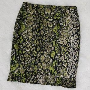 Elie Tahari Shimmer Snakeskin Pencil Skirt
